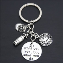 1 шт. брелок для ключей пожарный отдел ювелирные изделия пожарный подарок пожарный жена подарок леди пожарный E2031