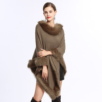 New arrivals 2018 winter warm scarf for women fashion warm Poncho fox fur scarf scarves solid shawl and wraps in stock