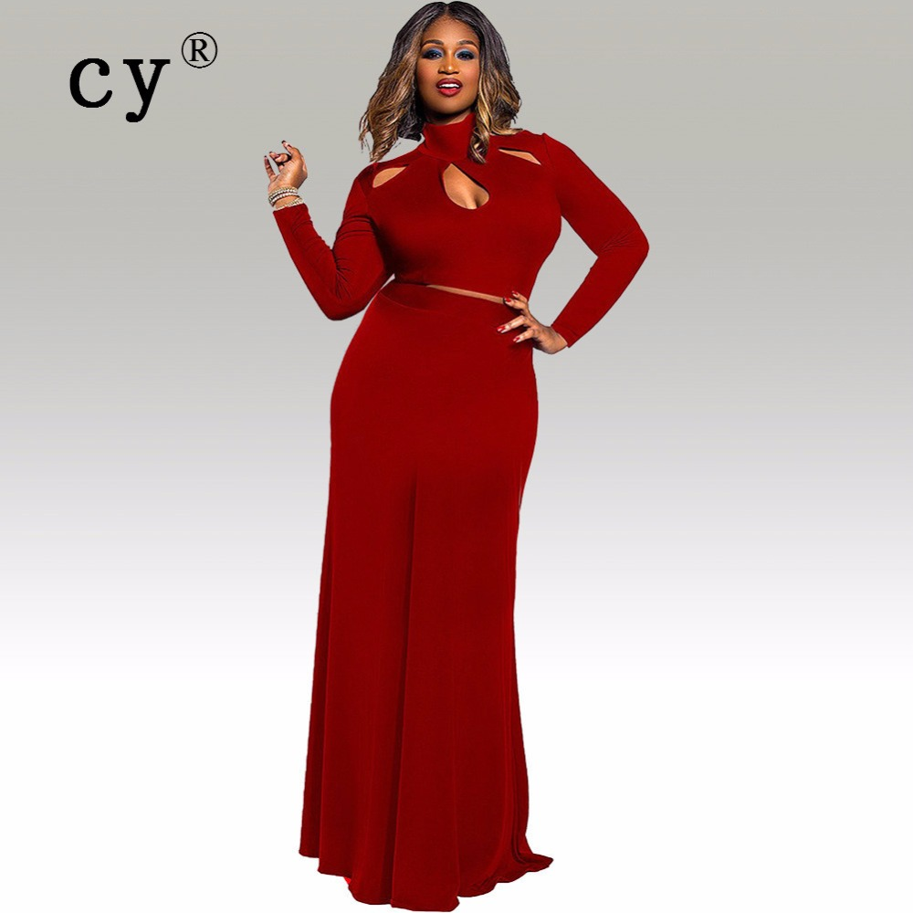 Dress code elegantly casual - Plus Size 2xl 3xl European Style Elegant Women Dress Sexy Fashion Women S Clothing Suits Will Twinset Of Pure Color Code 2195
