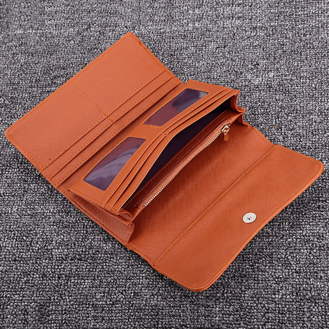 Ladies PU Leather Clutch Wallet