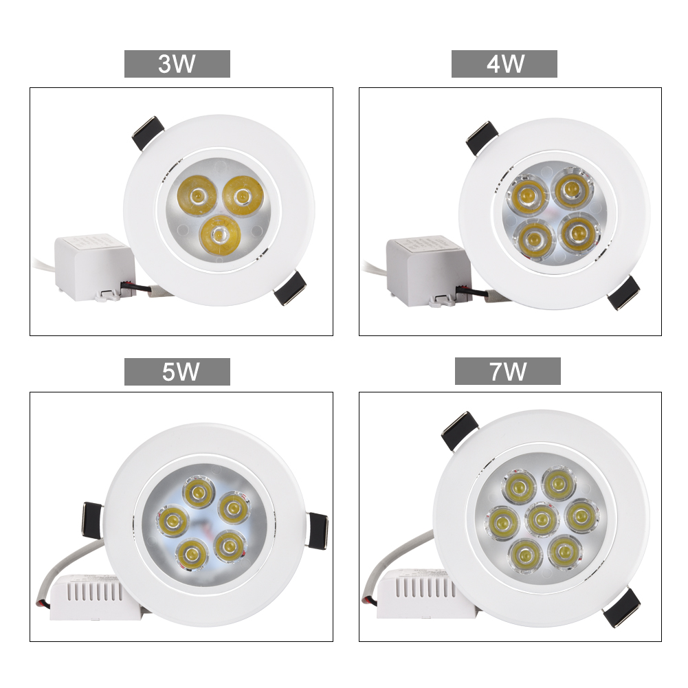 4 pcs / lot 3 W 4 W 5 W 7 W downlight Epistar LED plafonnier - Éclairage intérieur - Photo 2