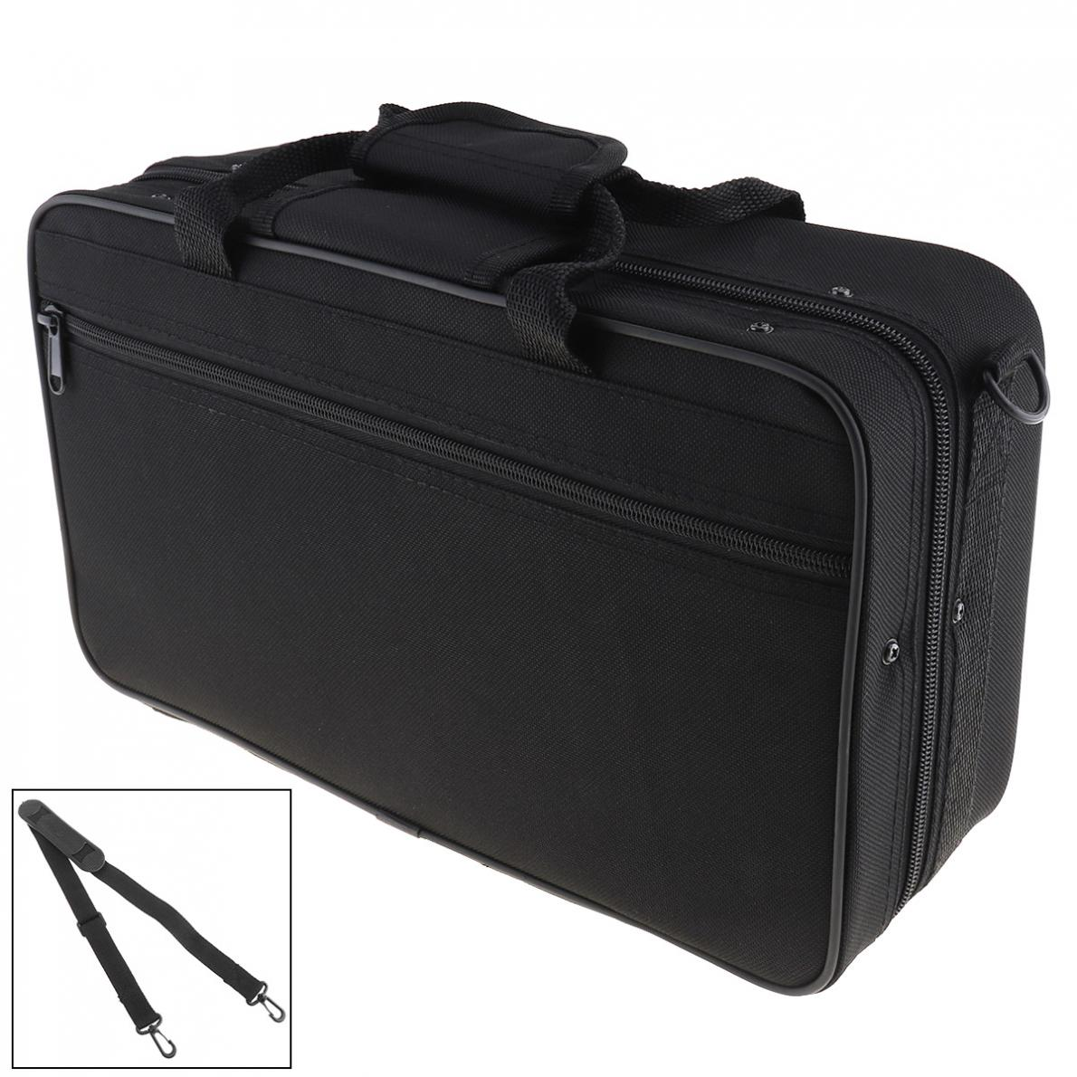 Oxford Cloth Gig Bag with waterproof and Adjustable Single Shoulder Strap Pocket Foam Cotton Padded for Clarinet