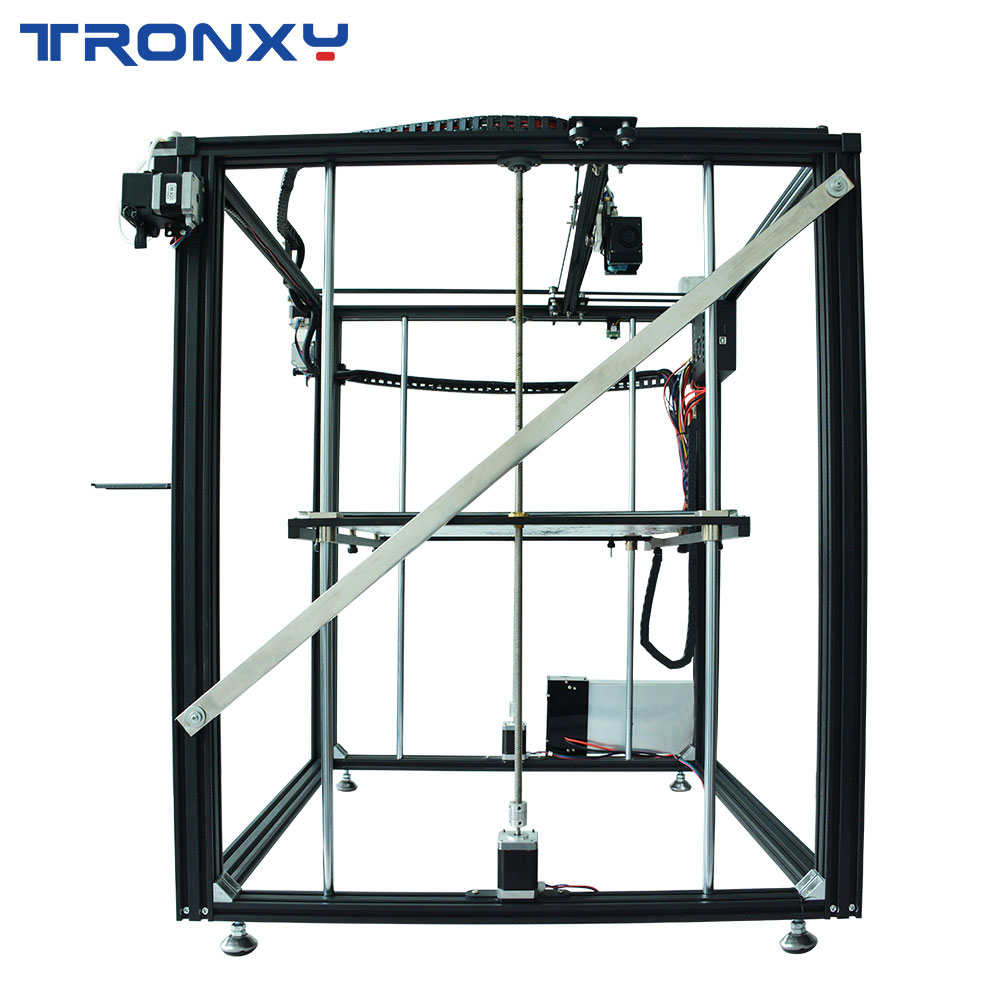2019 TRONXY X5ST-500-2E DIY 3D Printer Larger Size Heat bed Touch Screen  PLA 1 75mm Filament 500*500*600mm Double Color Printing