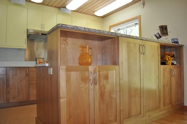 Nieuwe ontwerp massief houten keukenkasten aangepaste made