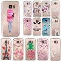Ультра Тонкий Мягкий Силиконовый Case для Samsung Galaxy S5/S6/S7/S6 Edge/S7 Край Смешные Шаблоны Назад ТПУ Крышка Телефона кожи