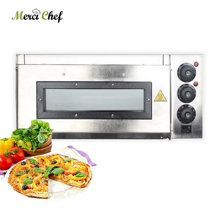 Single Layer Pizza Oven Professional Baking Oven Machine For Restaurant Shop Roast Steak Chicken Cake Bread