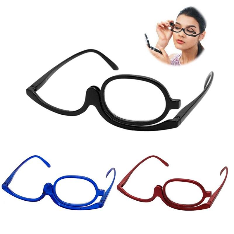 Gafas de aumento para mujer, gafas de lectura para maquillaje, gafas de lectura plegables para maquillaje, montura de vidrio para lectura + 1,0 Lens + 4,0 lentes de resina Nuevas gafas de seguridad transparentes a prueba de polvo anteojos de trabajo laboratorio Dental gafas protectoras contra salpicaduras gafas antiviento