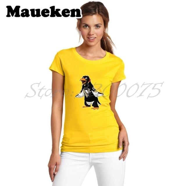 a93b8386617b Women champions 2017 Pittsburgh T-Shirt Cartoon Mascots BarDown Lady  Clothes Strong Penguins T Shirt Girl tees W17060711