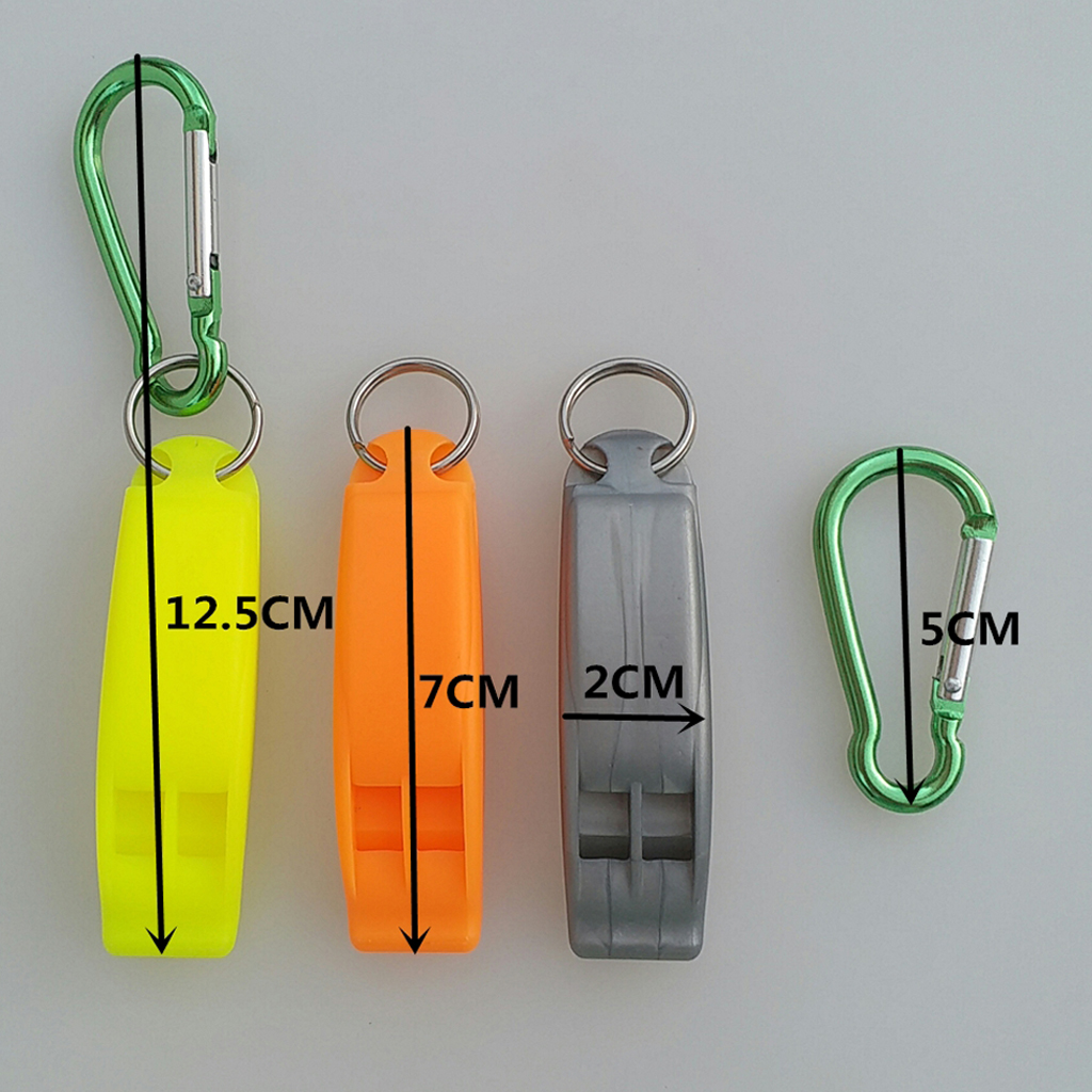 1 Piece Emergency Scuba Dive Safety Whistle Outdoor Whistle With Hook Gray