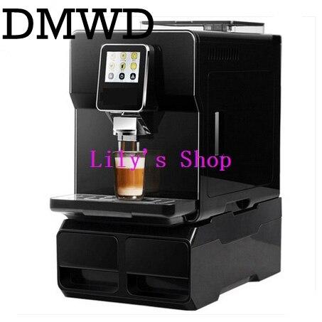 Automatic Espresso cafe maker Cappuccino water supply fancy 19Bar Italian coffee machine Milk Foam bubble electric beans grinder
