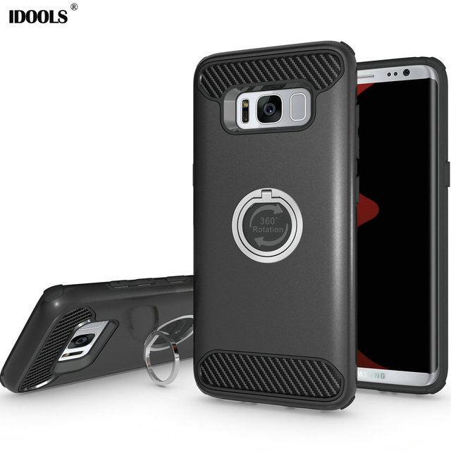 Case for Samsung Galaxy S8 Plus A5 2017 A7 2017 S7 Edge Phone Bags Cases IDOOLS Mobile Phone Accessories Covers Ring Holder