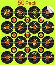 50 מארז מדבקות מדבקות ירי מטרות Splatterburst 2 inch מתיז מטרות ירי דבק עצמי תגובתי Gu רובה