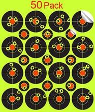 50 paket çekim etiketler Splatterburst Hedefleri 2 İnç Çıkartmalar Sıçrama Reaktif Kendinden Yapışkanlı Çekim Hedefleri Gucci Tüfek