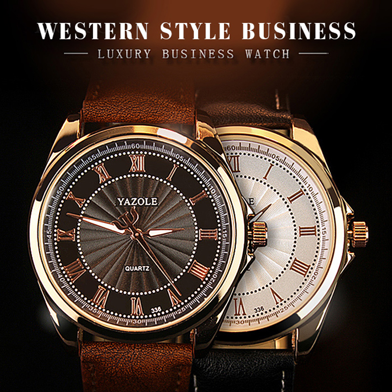YAZOLE 2019 Mens Watches Top Brand Luxury Quartz Watch Men Business Luminous Waterproof Wristwatch Mens Clock Relogio Masculino