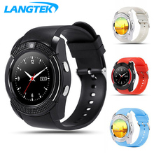 LANGTEK Wearable Devices V8 Smart Watch With Free SD Card Electronics Wrist Phone Watch For Android Smart Phone Smartwatch
