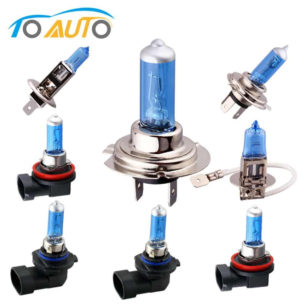 H7 55W 12V Halogen Bulbs H1 H3 H4 H8 H9 H11 HB3 9005 HB4 9006 Super Bright Car Headlight Lamp 5000K White Auto HeadLamp