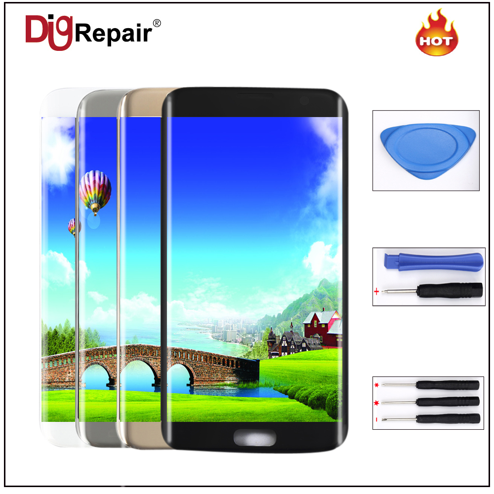 For Samsung Galaxy S7 edge G935F G935T G935A G935FD LCD Display Touch Screen Digitizer Assembly Replacement Parts  s7 edge