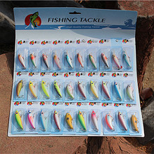 Hot-selling ! Fishing Lure Set 30/pack Mix Color Lifelike Spoon Bass Crank bait Minnow Crap Trout Hard Lure Fishing Bait Tackle