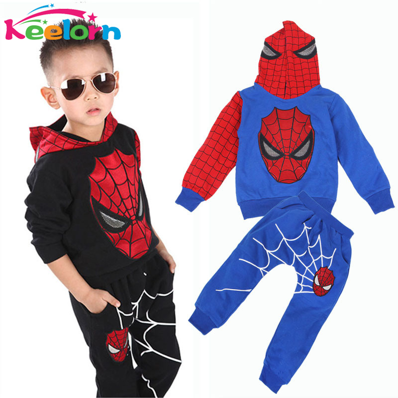 Keelorn boys clothes 2017 fashion active suit Spiderman sports clothing sets suit 2 pieces set Tracksuits Kids Clothing sets 2017 new boys clothing set camouflage 3 9t boy sports suits kids clothes suit cotton boys tracksuit teenage costume long sleeve