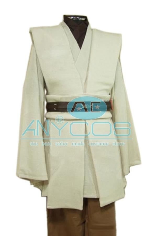 Star Wars Kenobi Jedi Tunic Brown Brown Cloak Robe Movie Halloween - Կարնավալային հագուստները - Լուսանկար 3