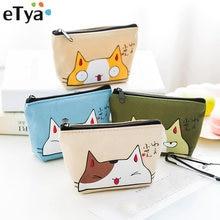 01afa47d13 ETya borse Gatto Moneta Donne Portafogli Piccolo Simpatico Cartone Animato  Animale Carta supporto del Sacchetto Chiave