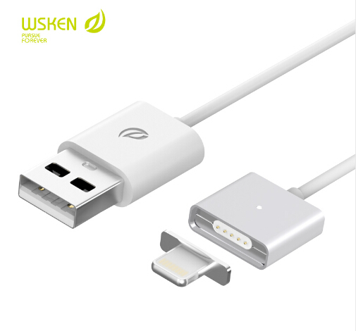 WSKEN Metal Magnetic Data Cable For Lightning/Micro USB Adapter Charging Charger Cable for iPhone iPad Samsung Android cellphone