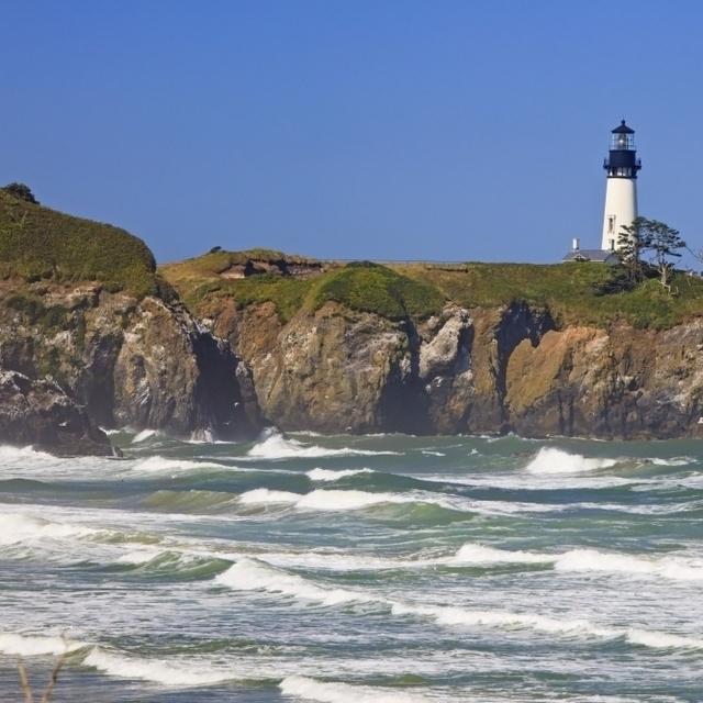 Yaquina Head Lighthouse On The Oregon Coast; Oregon  Usa Poster Print (38 x 24)