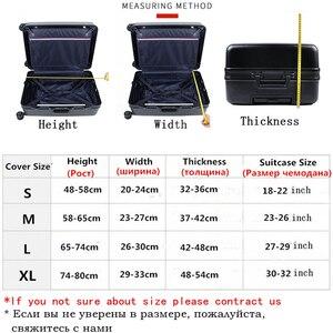 سمكا سفر حقيبة واقية غطاء حقيبة أمتعة إكسسوارات السفر الأمتعة مرنة غطاء غبار تطبيق إلى 18 ''-32'' حقيبة