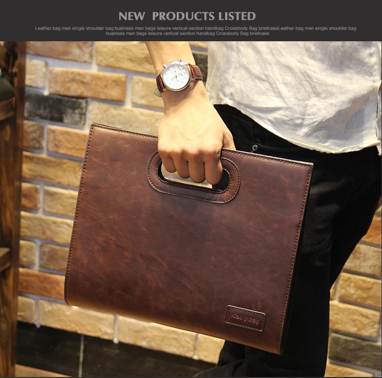Business Casual Men Leather Designer Handbag High Quality Male Wallet Famous Brand Men's Large Capacity Clutch Bag Brown black 65