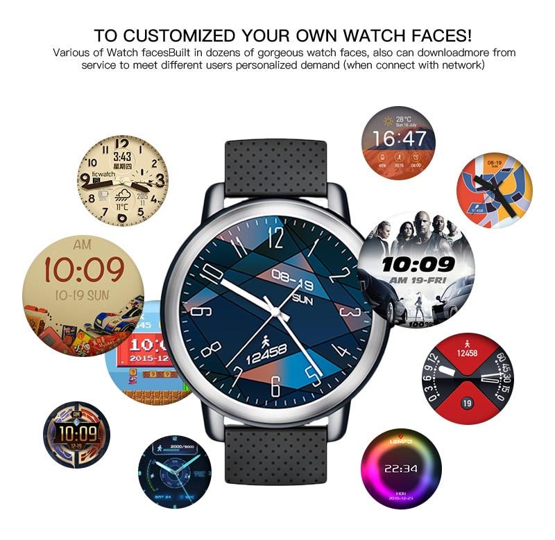 LEMFO LEM8 4G Smart Watch Android 7.1.1 GPS Smartwatch Men 2GB 16GB 580Mah Battery 1.39 Inch AMOLED Screen Sport Watch 18