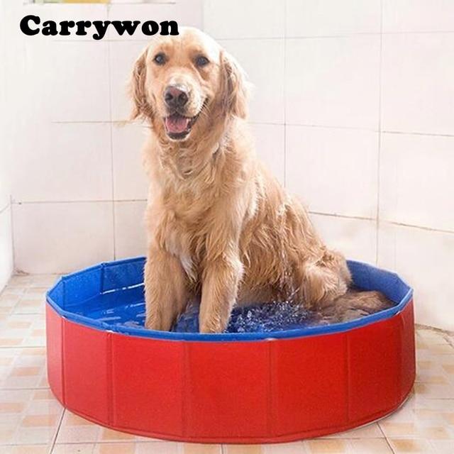 Carrywon Haustiere Pvc Waschen Teich Hund Badewanne Bett Faltbare