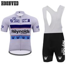 Pro camisa Da Equipe de corrida Homem Retro branco Reynolds Camisa de  ciclismo terno Mtb Gel b2d6d7cdf