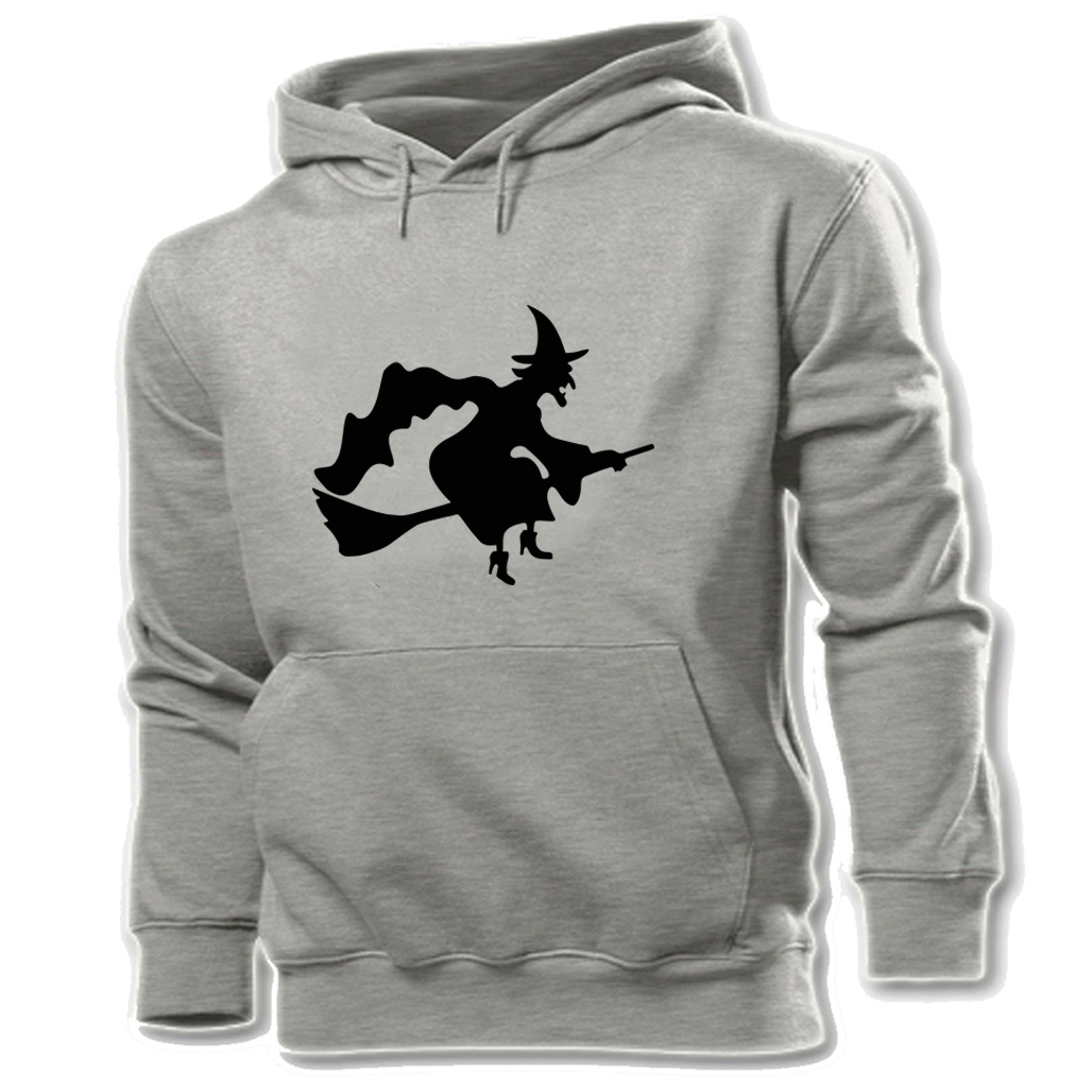 Unisex Hoodies Sweatshirts For Boy Men Long sleeves Witch Flying Silhouette Halloween Disign Autumn Casual Cloth For Men Women