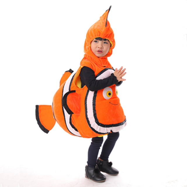 clown fish costume for children ocean fish halloween party costume animal costumes kids carnival cosplay halloween