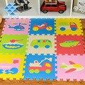 Novos bebês nascidos rastejando eva, tapete de espuma jogar puzzle número/dos desenhos animados mat, tapete, almofada, tapete para o bebê, criança, crianças jogo