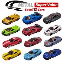 12 coches de juguete de Metal 12 en 1 Super Value aleación Diecast juguete vehículos modelo camión carrera coche juego 12 Mini coches para niños regalo para niños