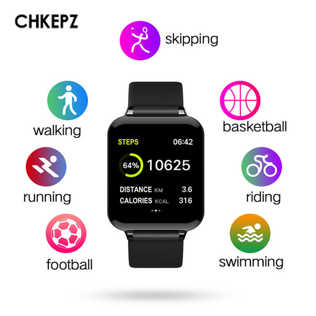 2019 New B57 Smart Watch Men Waterproof Heart Rate Monitor Blood Pressure Sport Smartwatches Women For ios Android Xiaomi Huawei