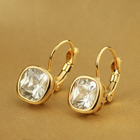 New Arrival Italina Rigant Free Shipping Fashion Jewelery Wholesale Earring 18k Rose White Gold Plated Crystal