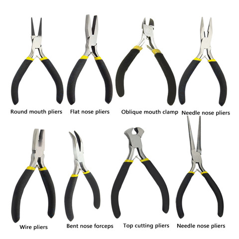 OUTAD New Jewellery Making Beading Mini Pliers Tools Kit Set Round Flat Long Nose Dropshipping Pakistan