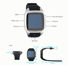 Android Smart Watch Phone Support GPS 3G WiFi GPRS Wristwatvvtch with 1.5 inch 240 * 240 Touch Screen Smartwatch Bluetooth Watch