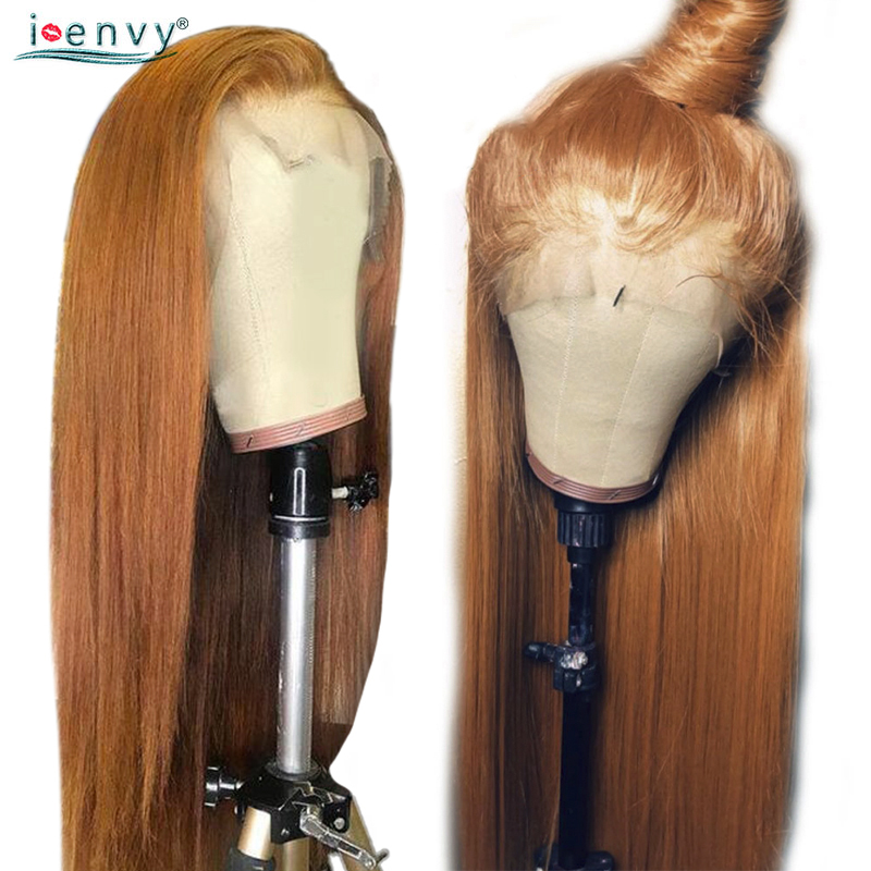 30 Gold Blonde Lace Front Human Hair Wigs Brazilian Straight 13 4 Lace Front Wig #30 Gold Blonde Lace Front Human Hair Wigs Brazilian Straight 13*4 Lace Front Wig PrePlucked Baby Hair Colored Lace Wigs NonRemy