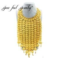 Просто чувствую Африка ювелирные изделия Большой Цепочки и ожерелья Золото Цвет длинной кисточкой большой Цепочки и ожерелья Свадебные/по