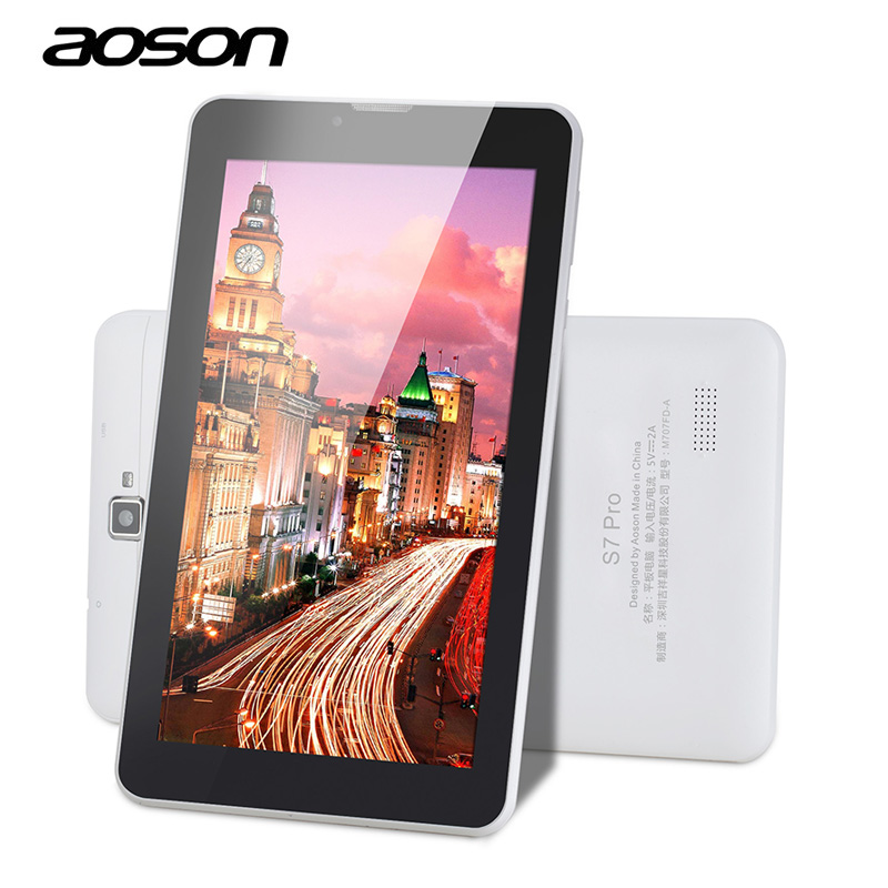 4G LTE Phone Call Aoson 7 Inch S7 Pro Android 6.0 8GB ROM Quad Core IPS Screen android Tablet PC Dual Camera Bluetooth 7 8 9 10 yuntab 7 inch q88 allwinner a33 quad core 512mb 8gb android 4 4 kids tablet pc hd screen dual camera