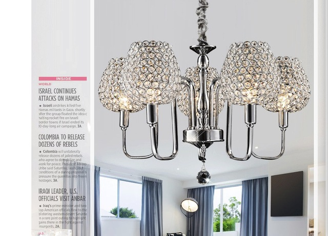 K Crystal Pendant Lights Silver Kitchen Lighting Pendants Round - Silver kitchen pendant lighting