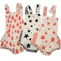 Mamelucos del bebé del algodón infantil niñas niños Patrón de Estrella Monos Mamelucos 3 colores disponibles