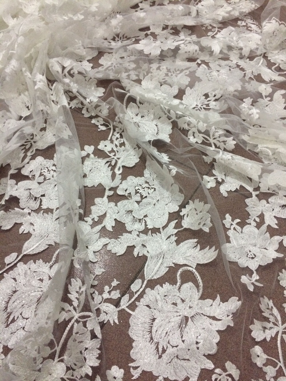 beautiful Cyndi 688 23 Nigerian fabric for party dress new African embroidered lace fabric