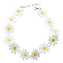 Women Delicate daisy flower of necklace Charm necklace jewelry Bohemian