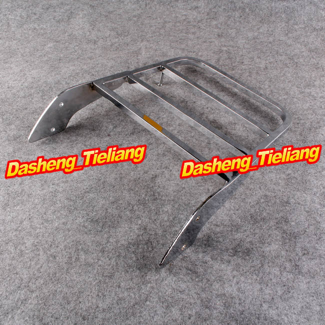 Luggage Rack For Honda Shadow Steed VLX600 99-07 & Spirit 750 01-08 chrome motorcycle throttle link cover case for honda vt600 vlx600 shadow 600 steed400 steed 600