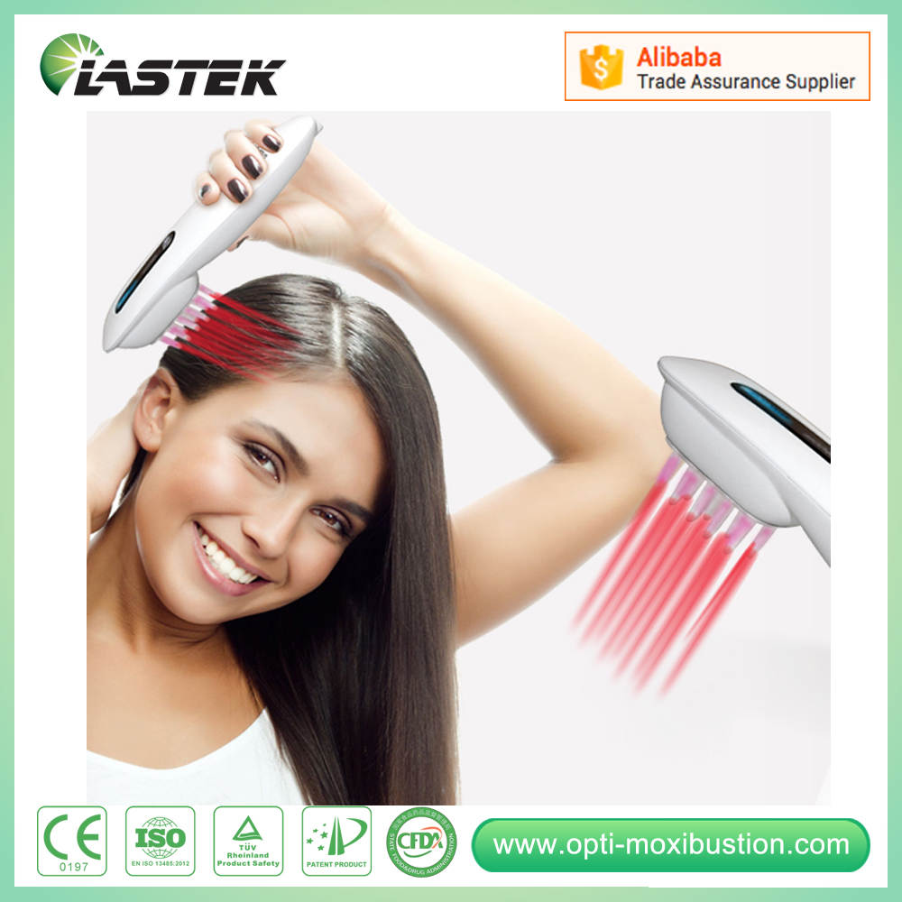 2016 hot sale hair care hair loss treatment lllt laser therapeutic comb for hair growth laser hair growth comb 6 color led light micro current for hair massage remove scurf n repair hair hair loss