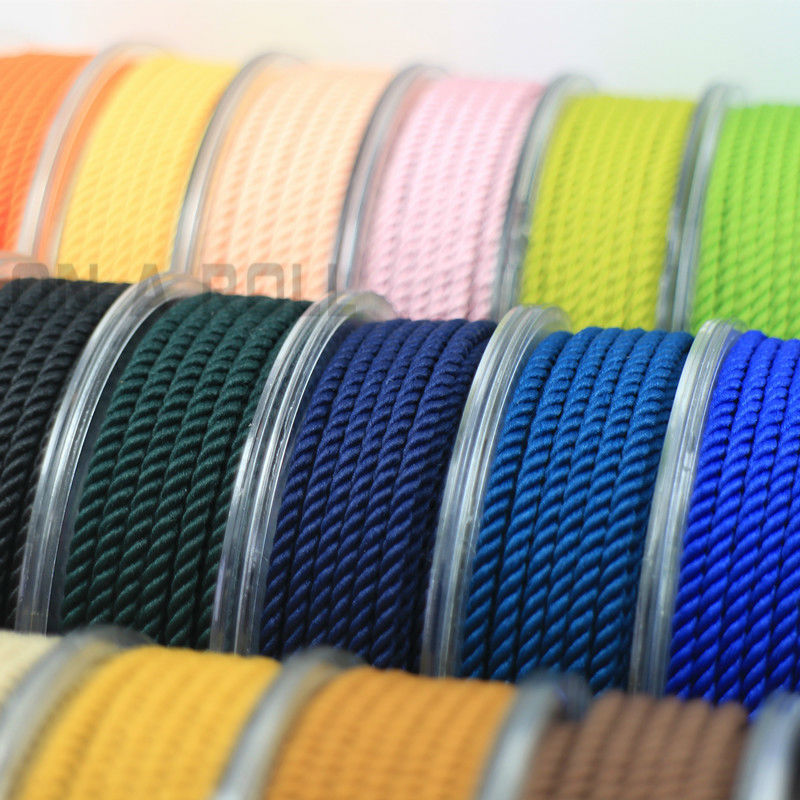 2.5mm Silk thread milan cord DIY Jewelry & packing & shoes rope Necklaces & Bracelets cords 30colors No.16-33color 5meters/roll ...
